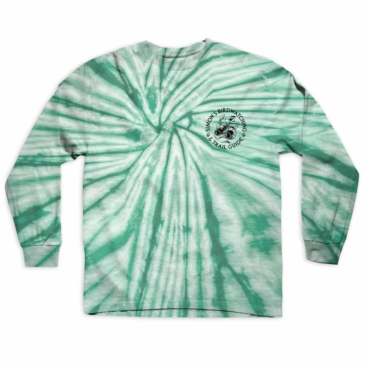 Lakai Simon's Birdwatching l/s t shirt green tie dye