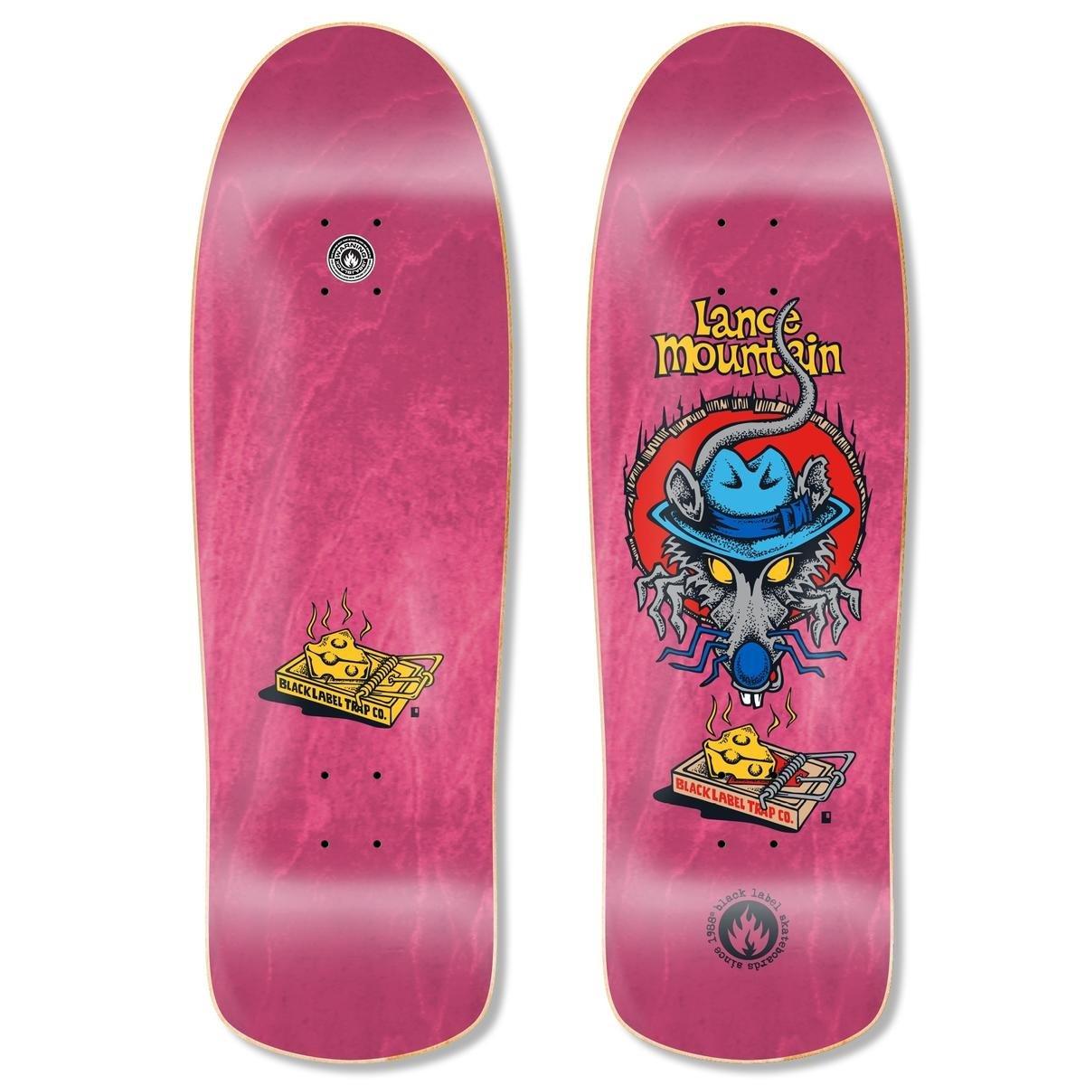Black Label Lance Mountain Rat Trap pink 10 x 32.25