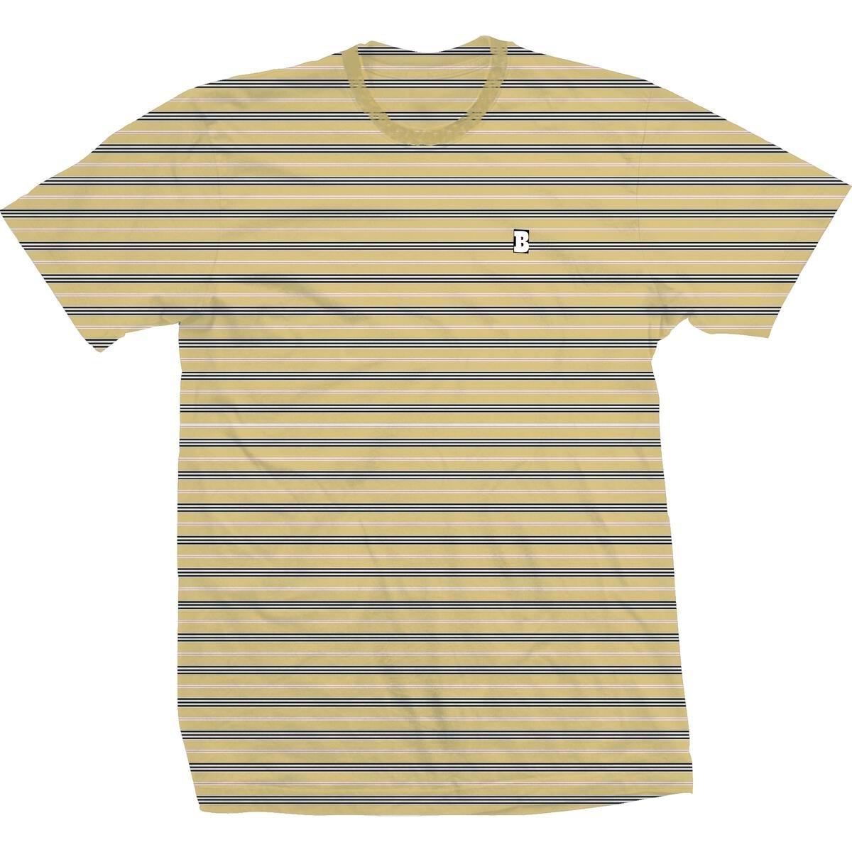 Baker Capital B Yellow Stripe s/s t shirt