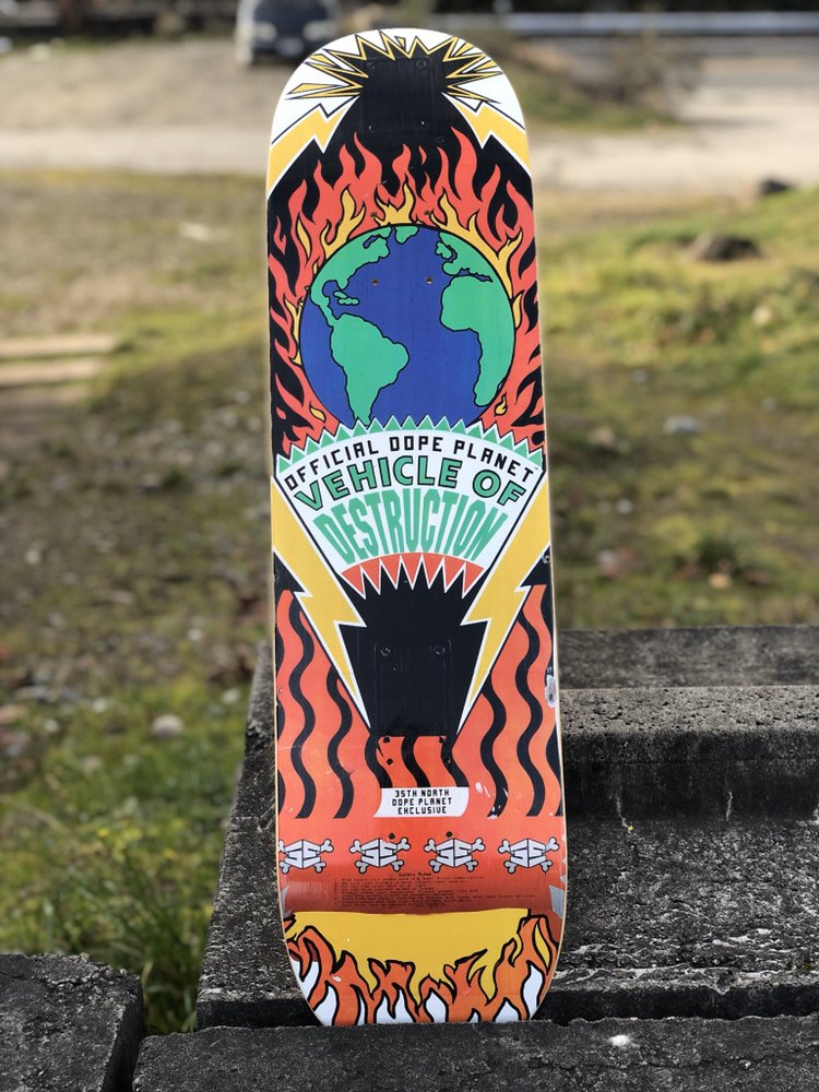 35th x Dope Planet Burning deck