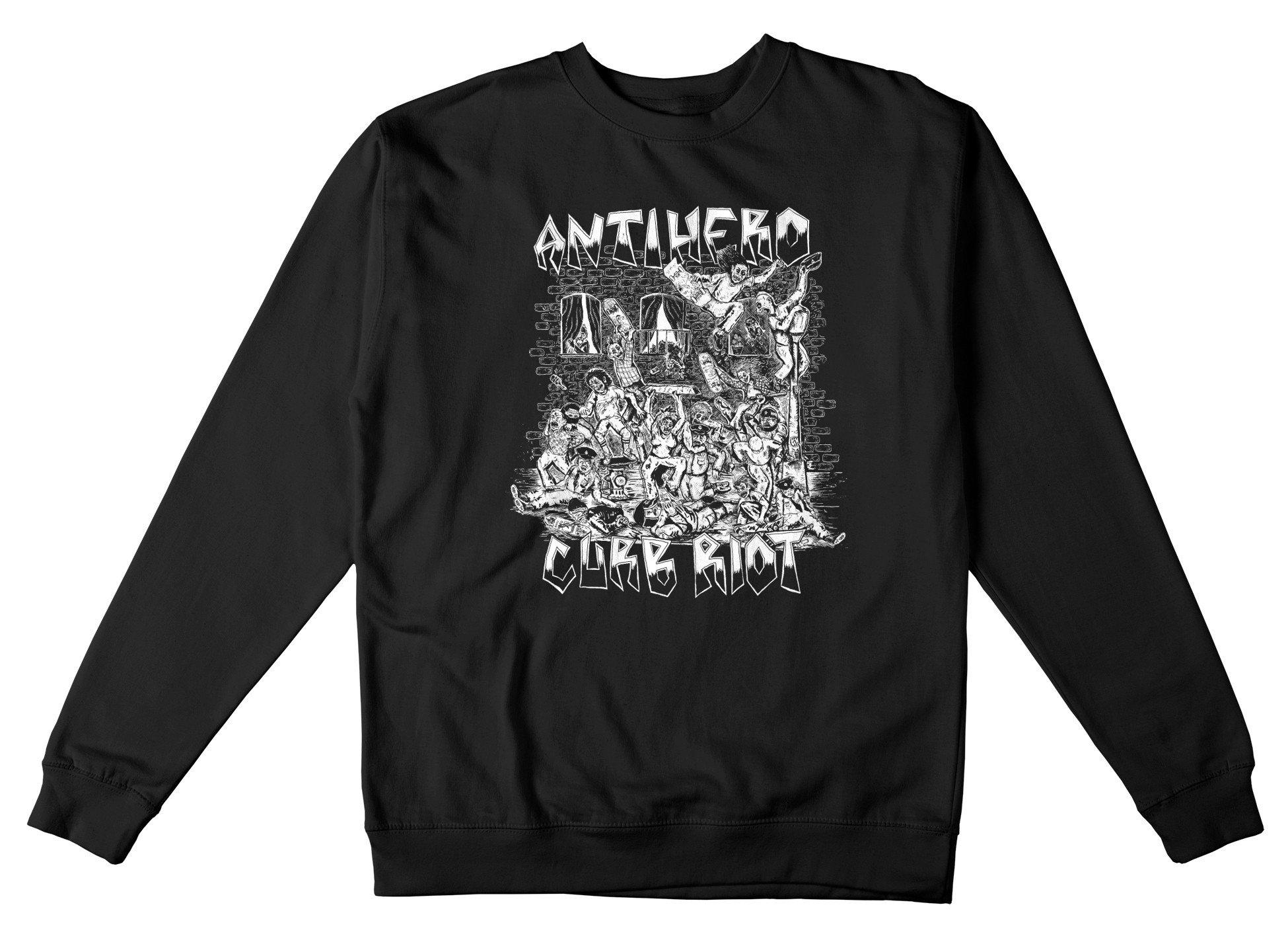 AntiHero Curb Riot Crewneck Sweatshirt black