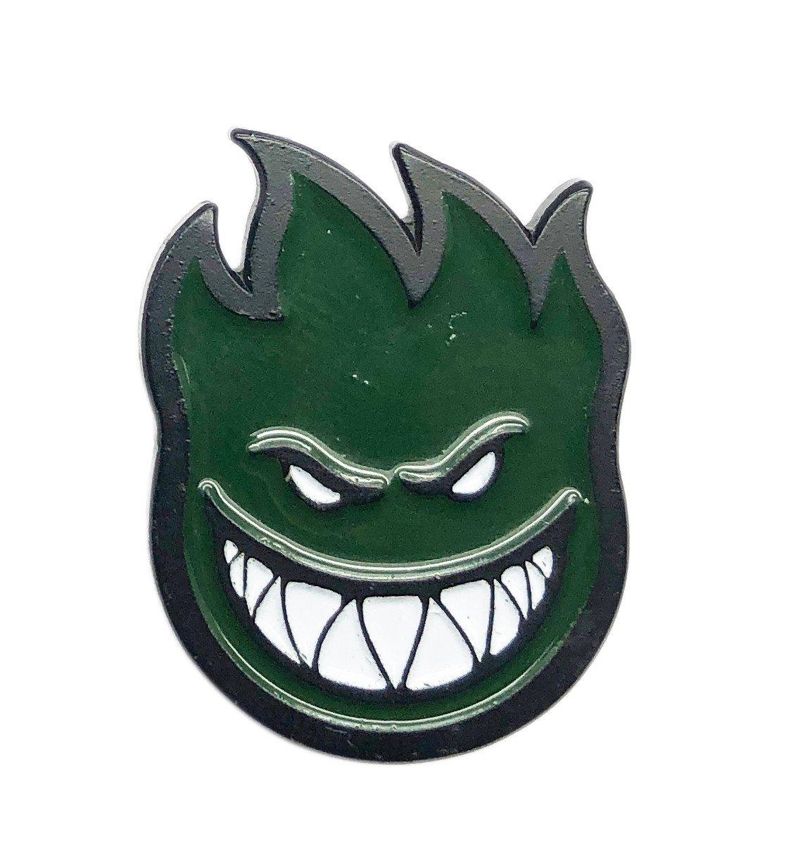Spitfire Big Head lapel Pin black/green