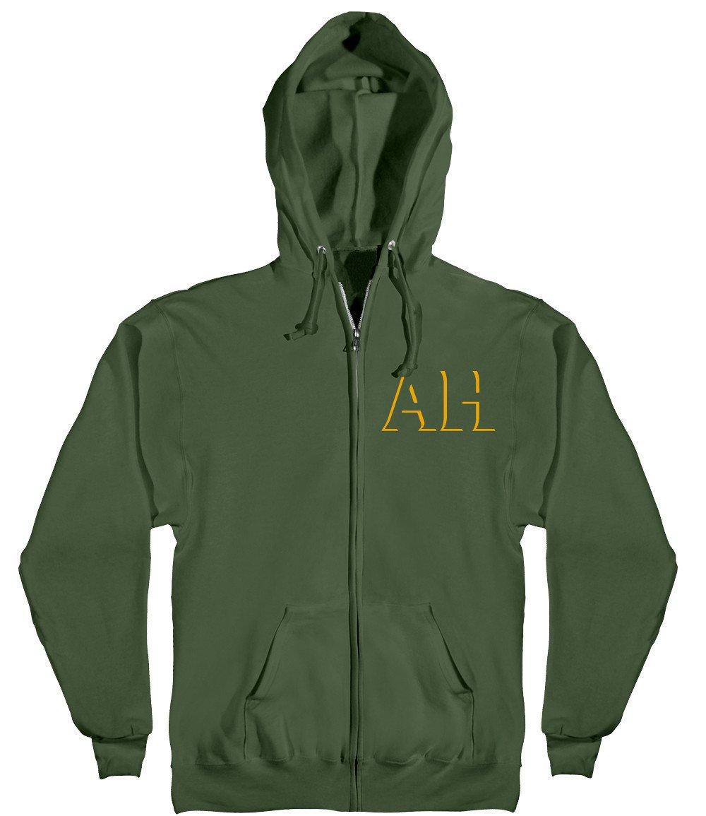 Antihero Drophero Zip Hooded Sweatshirt army/gold