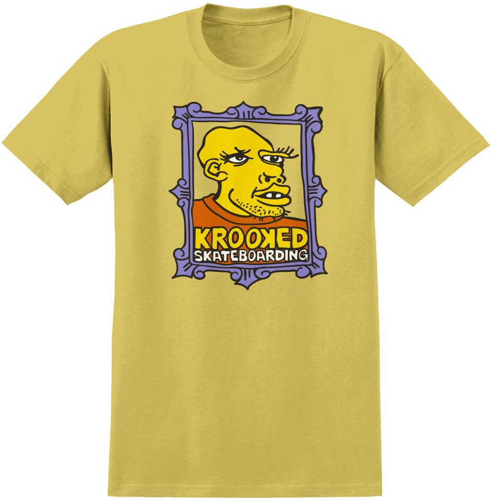 Krooked Mark Gonzales Frame Face s/s t mustard