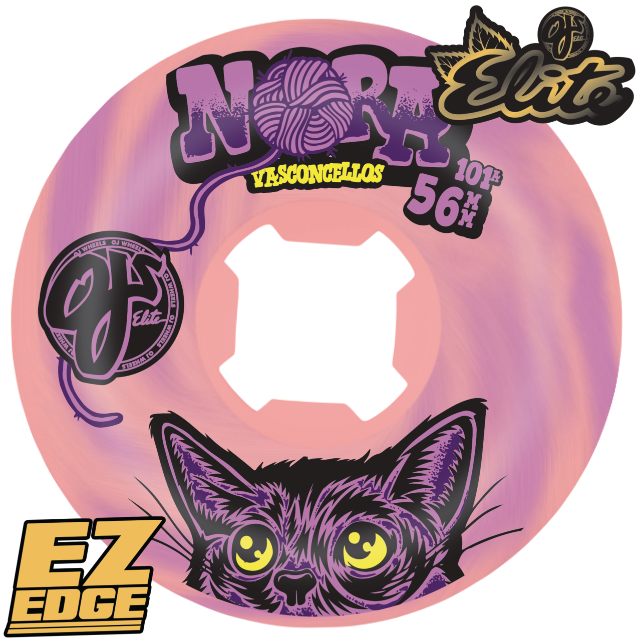 OJ 56mm Elite Nora Vasconcellos pink/purple ez edge 101a