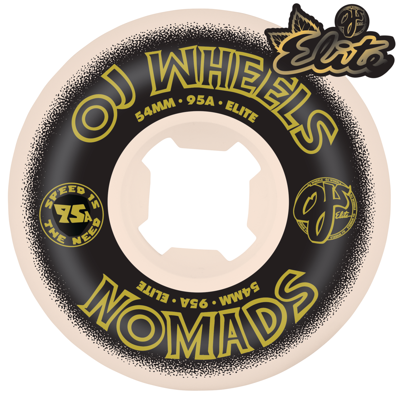 OJ 54mm Elite Nomad White 95a