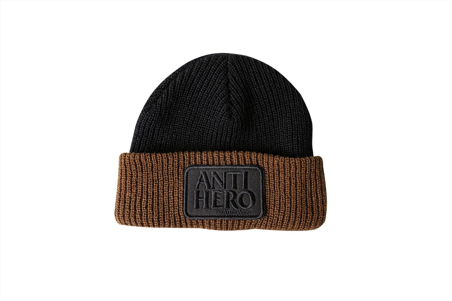 Antihero Reserve Patch Cuff Beanie Black/Brown