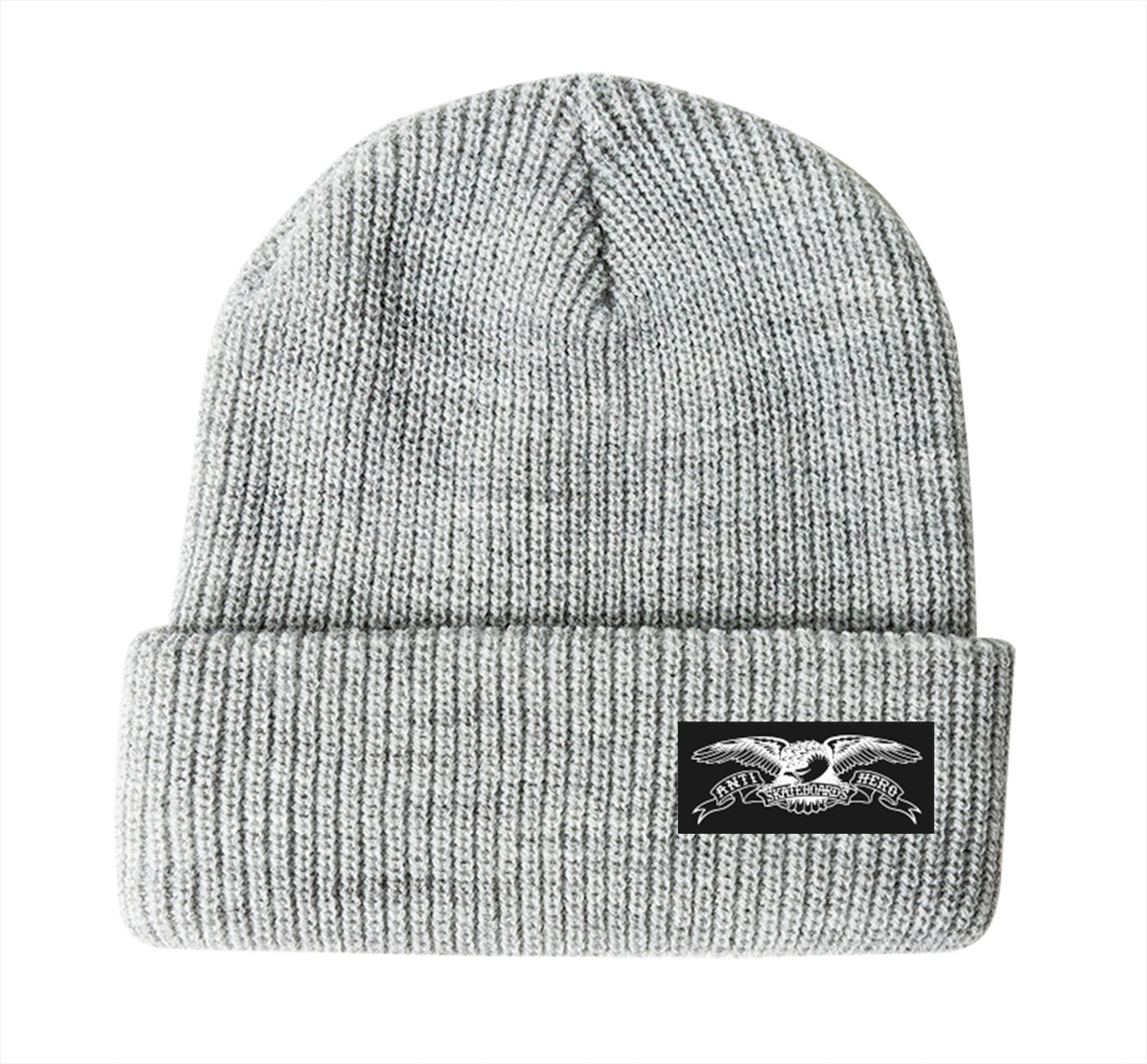 Antihero Eagle Label Cuff Beanie Heather Grey