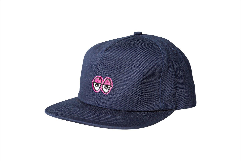 Krooked Eyes Adjustable Snapback Navy/Pink