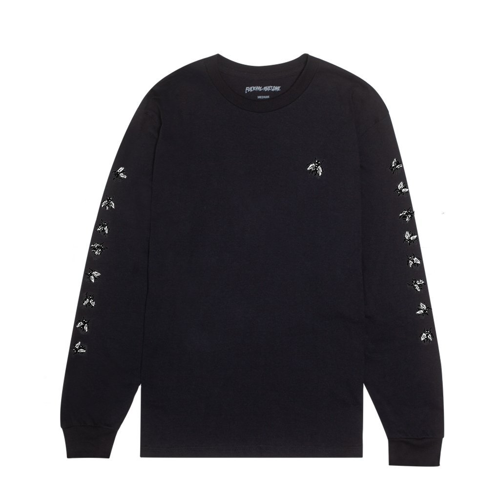 Fucking Awesome Flies l/s t black