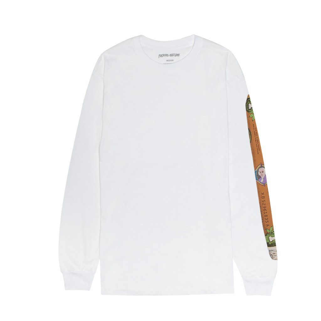 Fucking Awesome Blunt l/s t white