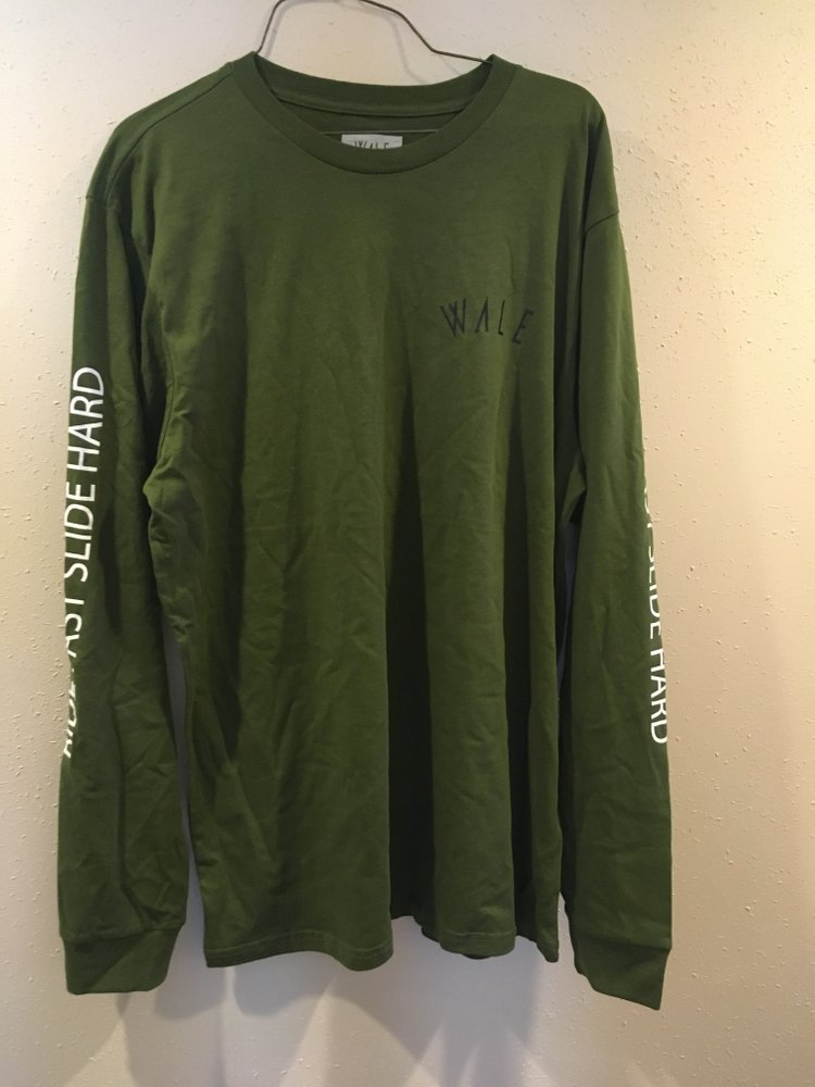 Wale Goods Ride l/s t shirt Green