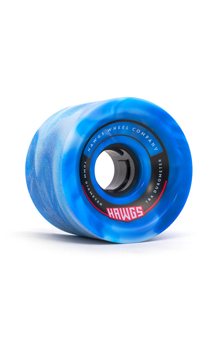 Landyachtz Hawgs 70's 70mm 78a blue/white set of 4