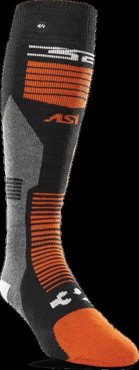 Thirtytwo Asi Merino Vapor Socks Black Orange 2020