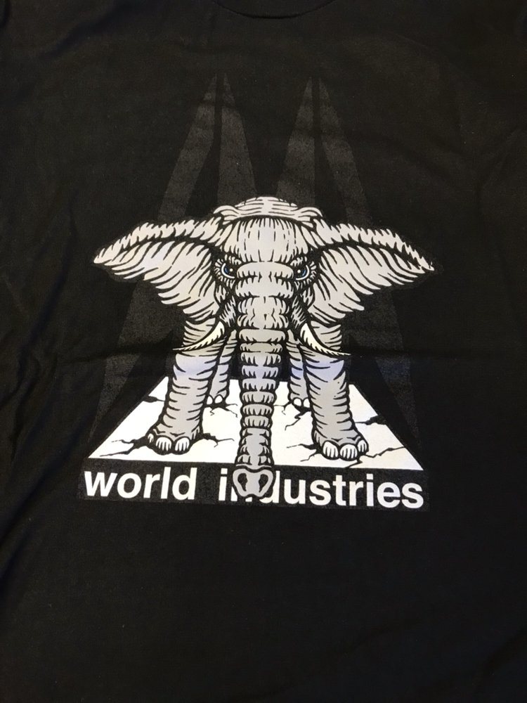 Prime Mike Vallely World Industries Elephant on the Edge shirt black