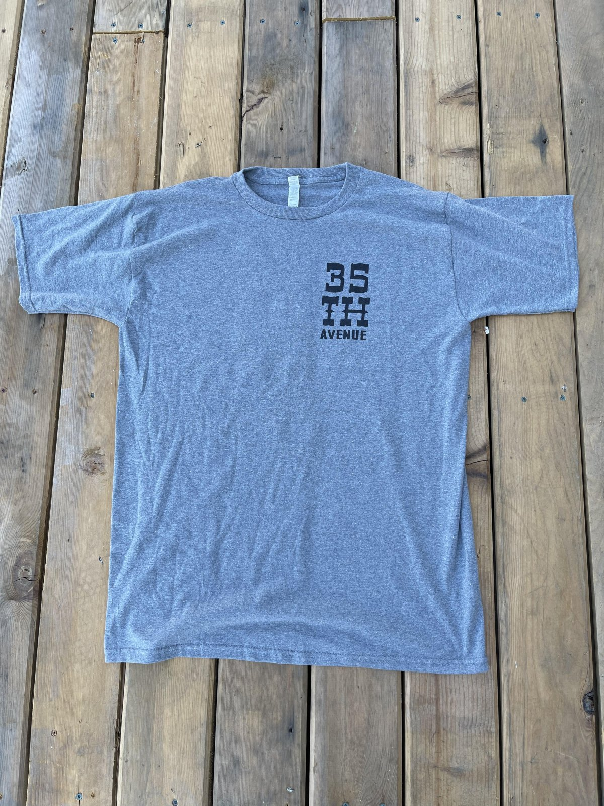 35th Snake n Boot s/s t shirt heather grey