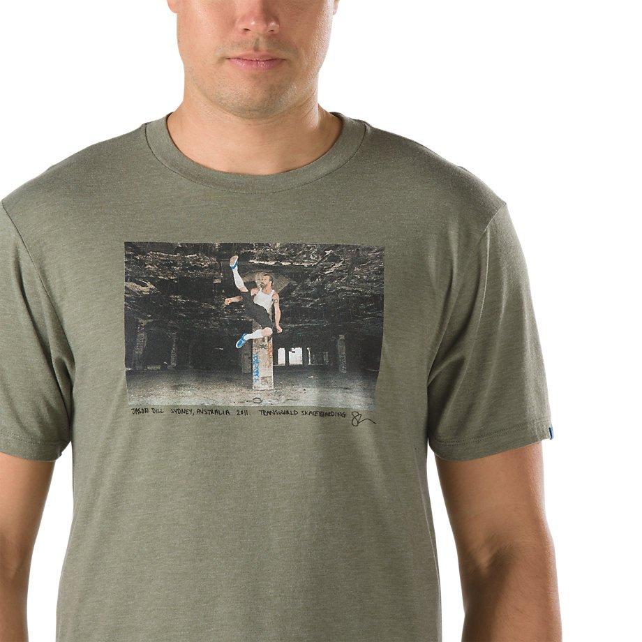 Vans X TWS Jason Dill s/s t shirt Heather Olive