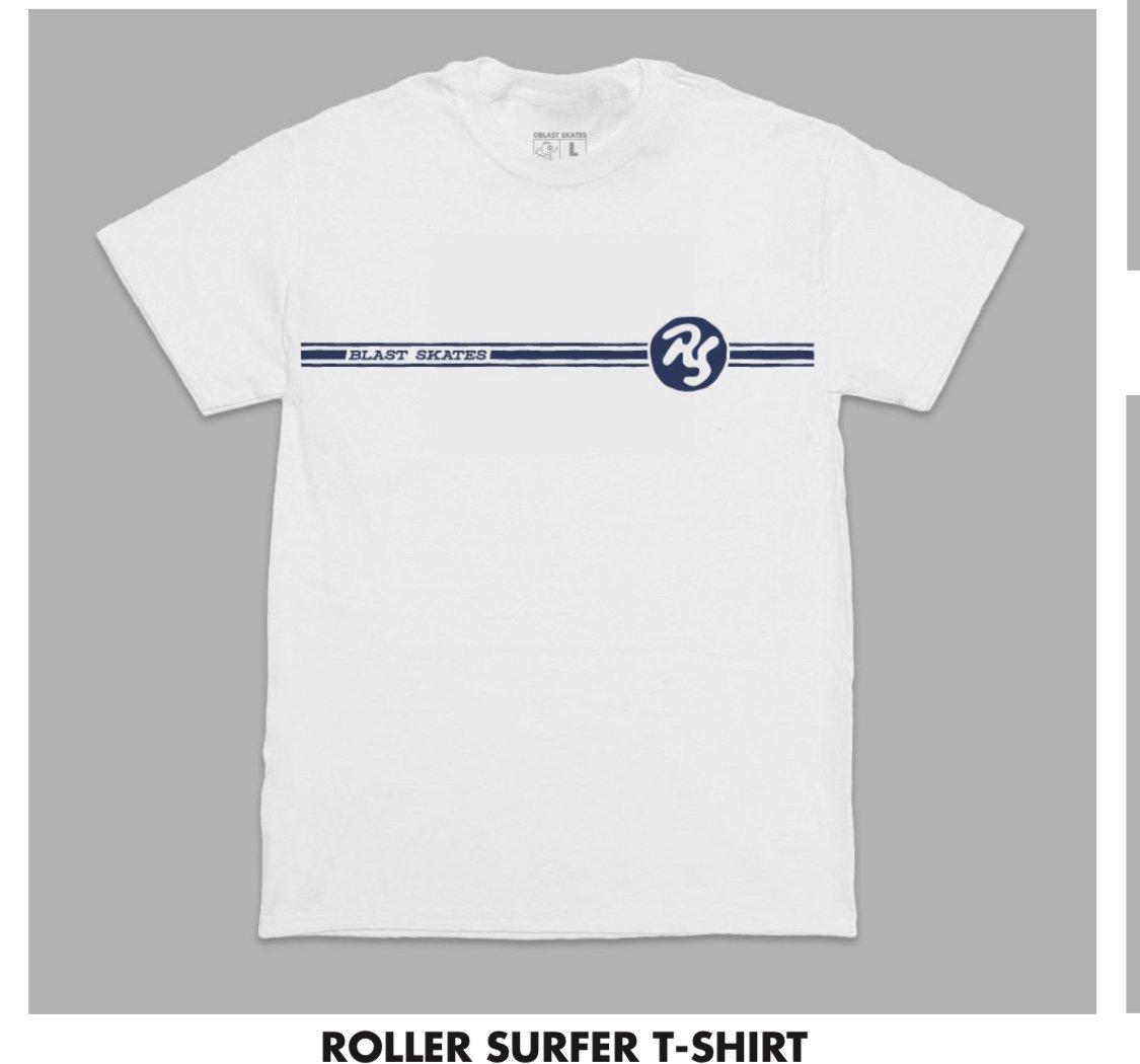 Blast Skates Roller Surfer Tee s/s White/Navy