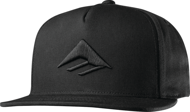 Emerica Triangle Snapback Cap (Black/Black)