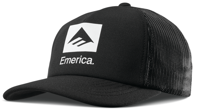 Emerica Brand Combo Trucker Hat (Black/White)
