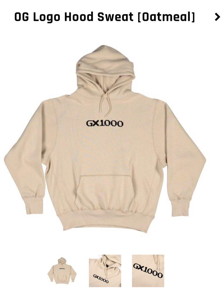 GX1000 OG Logo Embroidered hoody oatmeal