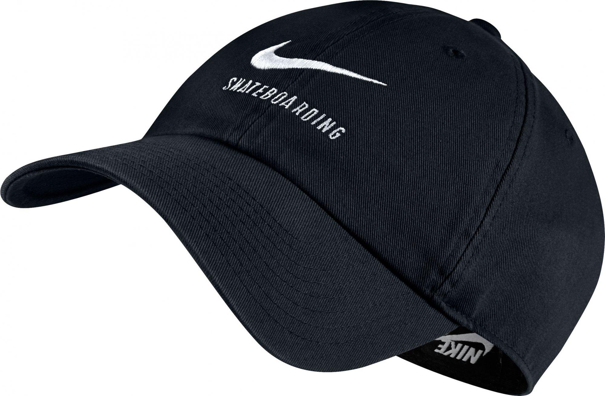 Nike SB U NK H86 CAP SB TWILL BLACK BLACK WHITE 4149965d1b93