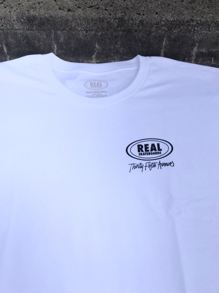Real X 35th ave Zach Rockstad s/s t shirt white