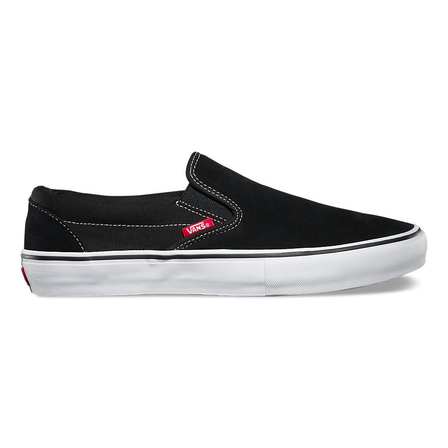 Vans Slip On Pro Black/white/gum suede