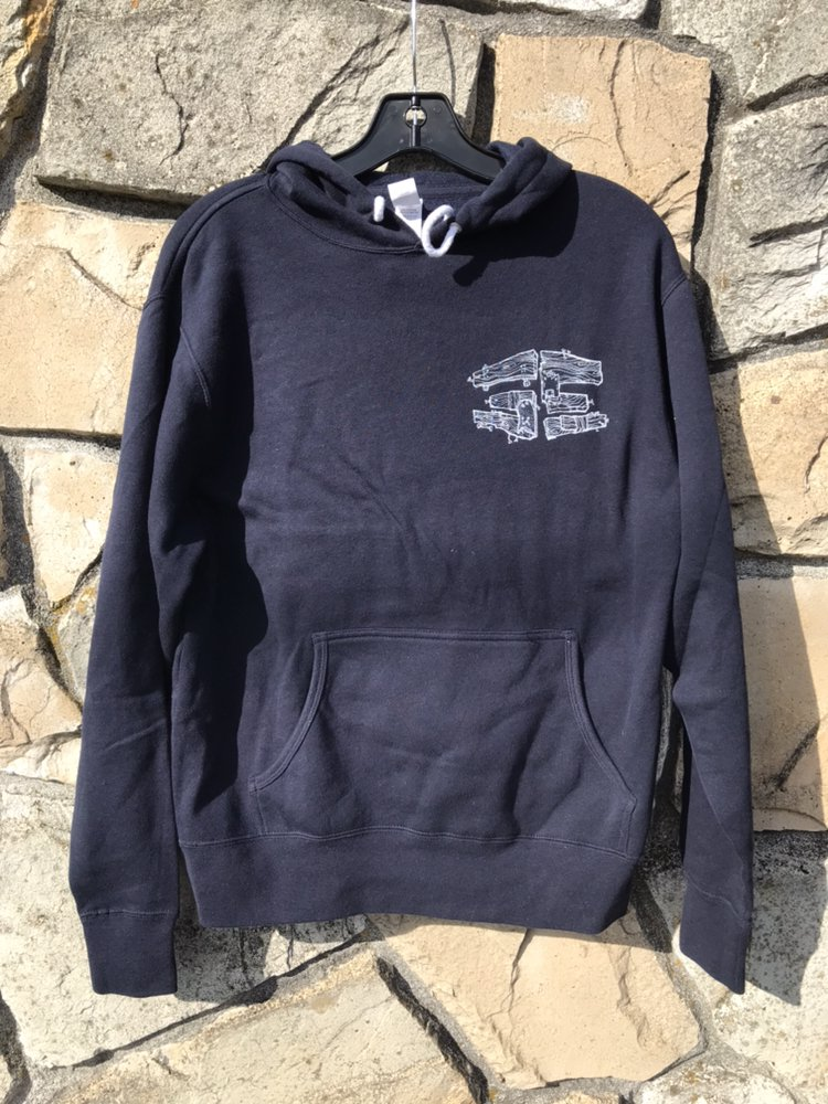 35th Quality Hooded Sweatshirt Navy