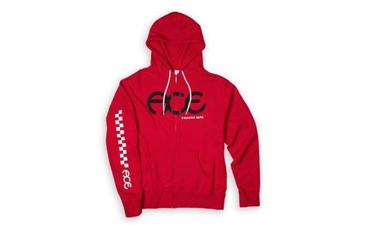 Ace Racer Red Zip Hoodie