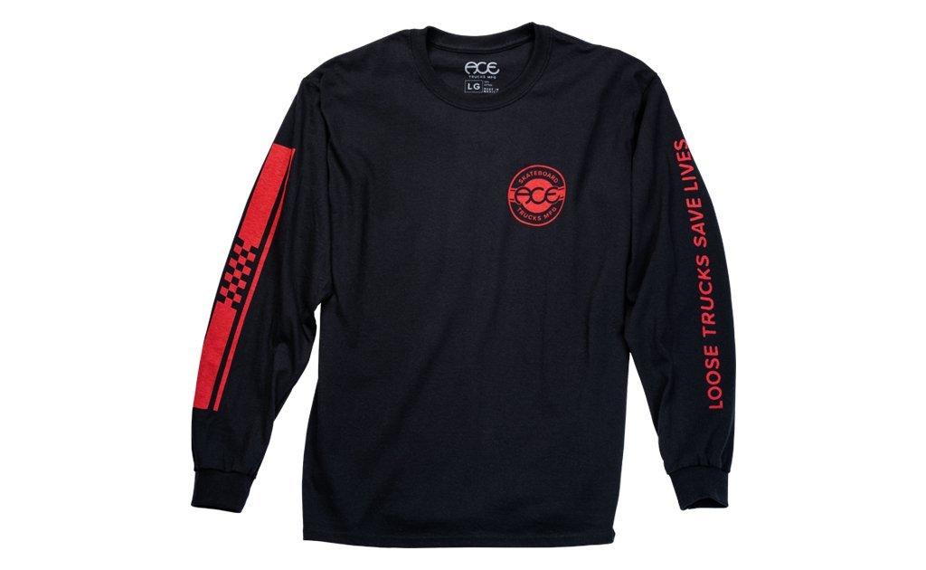 Ace Trucks Retro Jersey L/S shirt Black