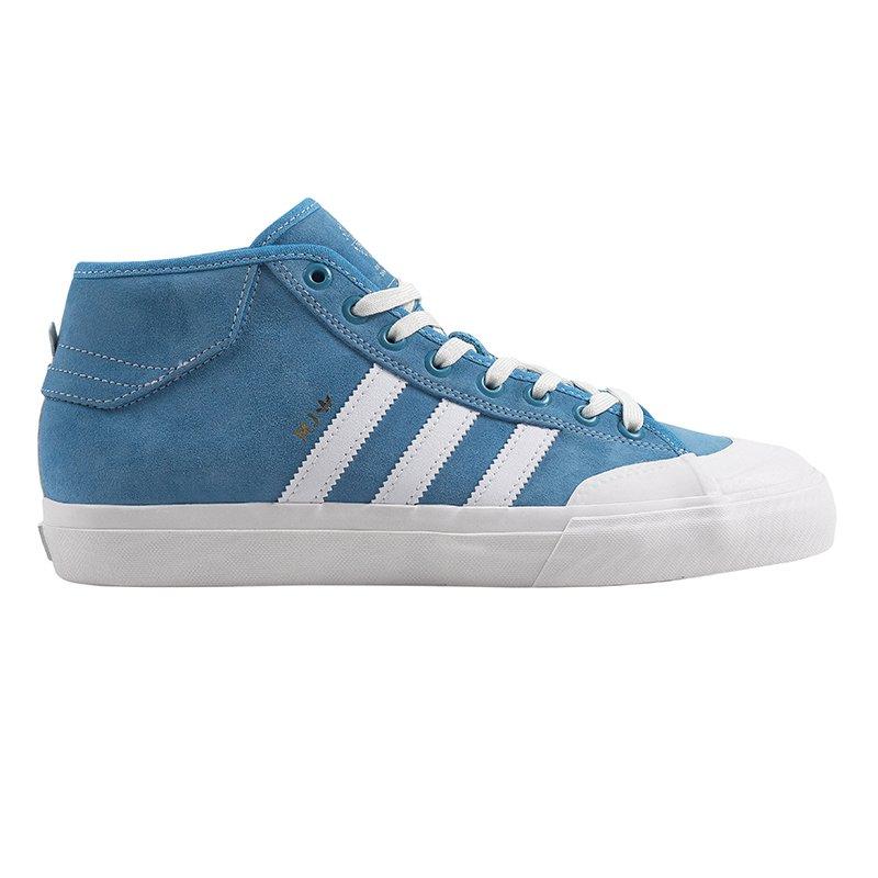 bbd4d47e733599 Adidas Matchcourt Mid Light Blue Neo White-Gold Metallic