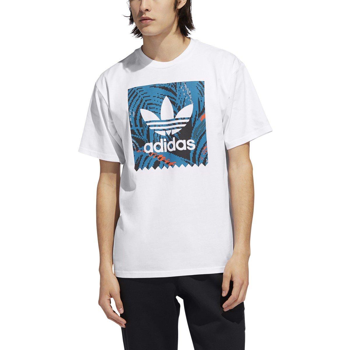 Adidas BB Print s/s t shirt White/Active Teal/Active Orange