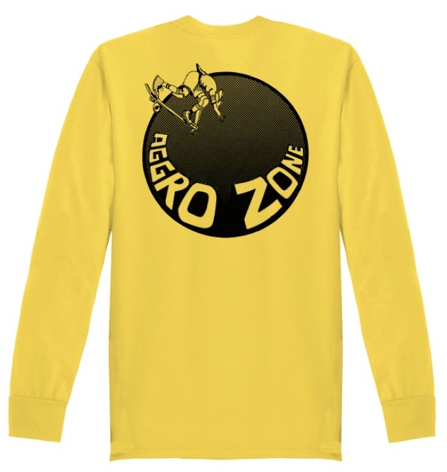 Transworld Skateboarding Aggro Zone longsleeve t shirt yellow