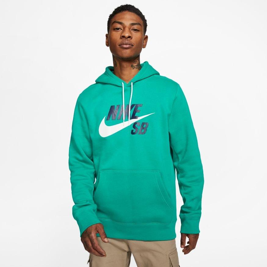 Nike SB Icon Hoodie neptune green
