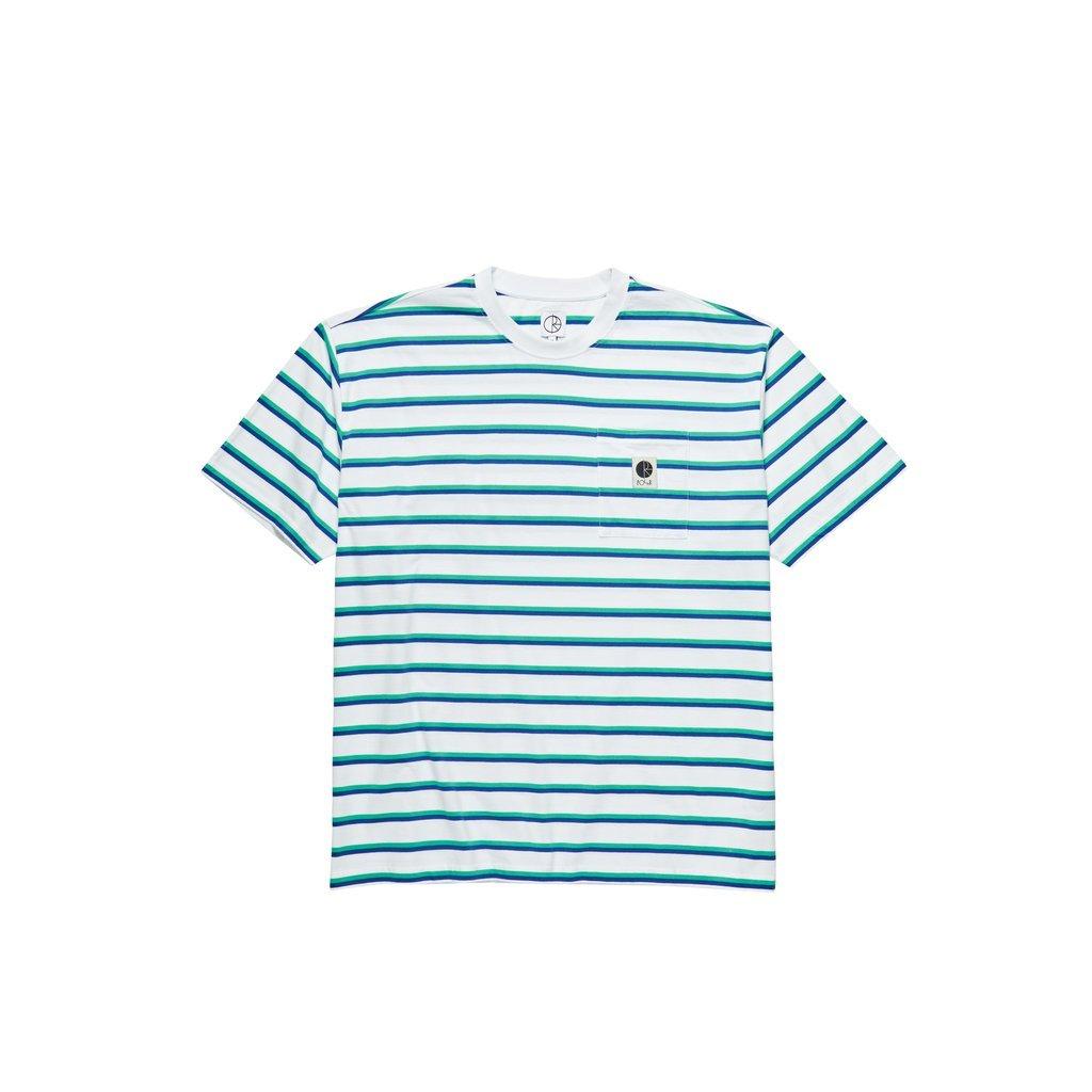 Polar Skate Co Stripe Pocket s/s t shirt White