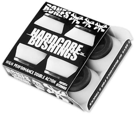 Bones Hardcore Hard White/Black (set of 4)
