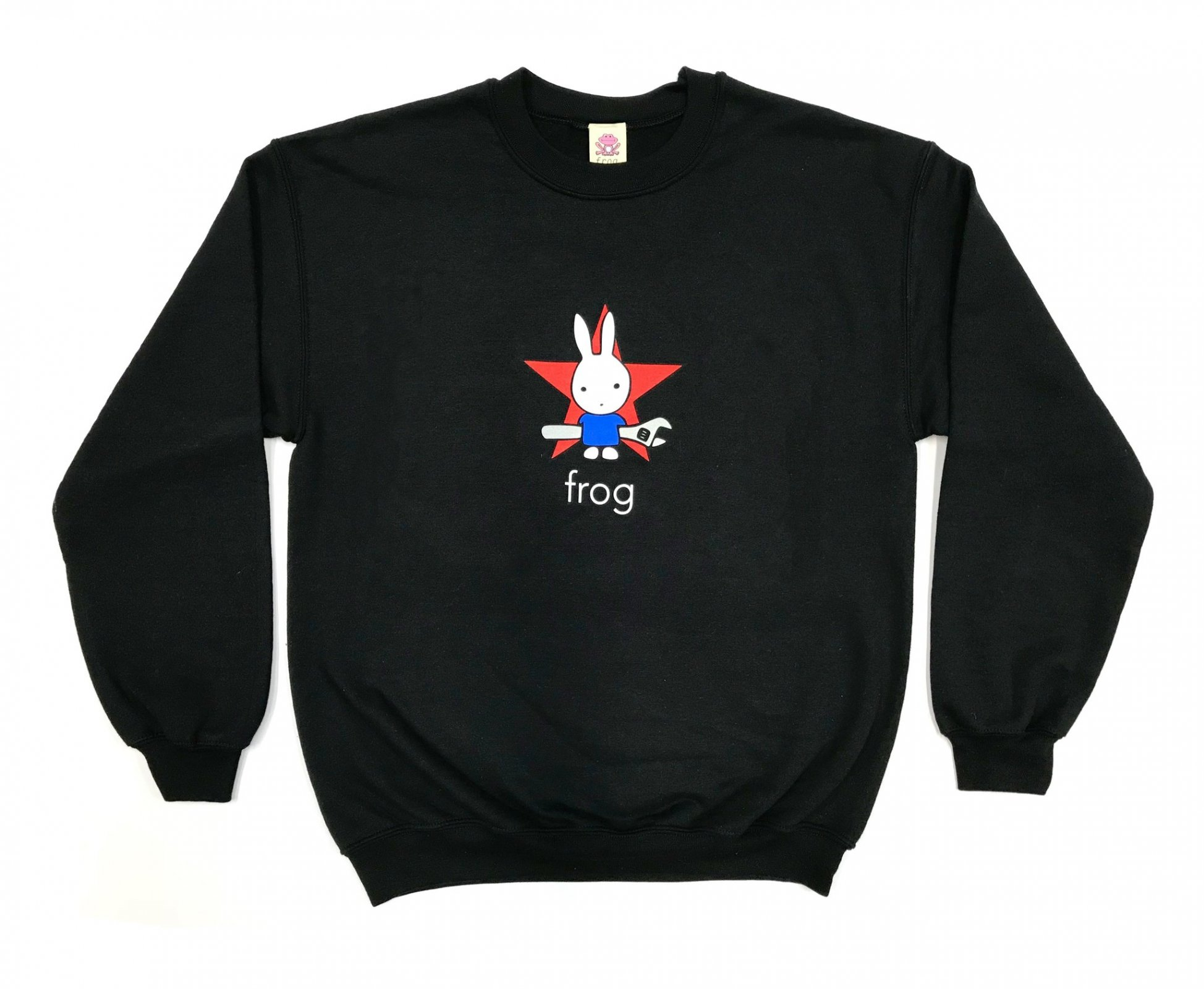 Frog Earth Defense Crewneck sweatshirt black