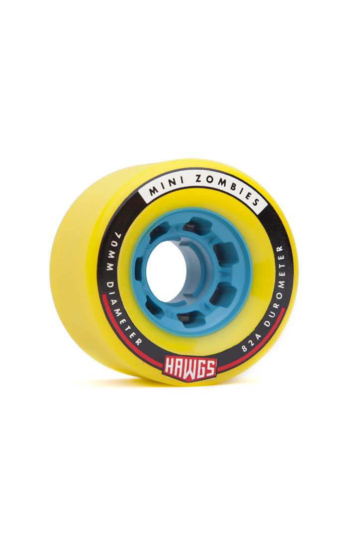 Landyachtz Hawgs Mini Zombies 70mm 82a yellow set of 4