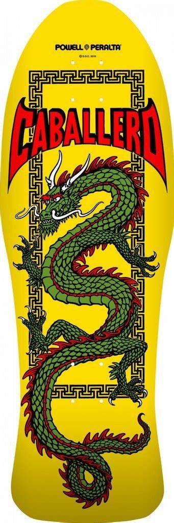 Powell Peralta Steve Caballero Chinese Dragon Skateboard Deck Yellow 10 x 30