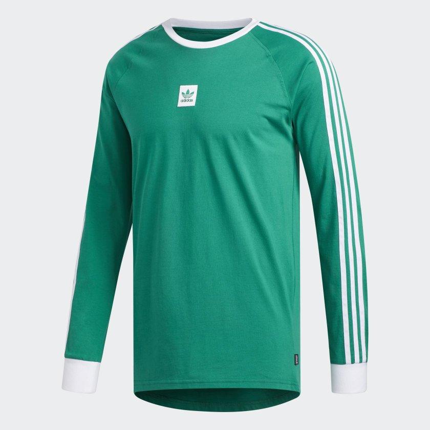 Adidas Cali BB L/S Tee  Bold Green/White
