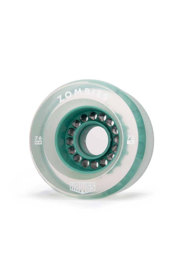 Landyachtz Hawgs Zombie 76mm 78a Clear Teal set of 4