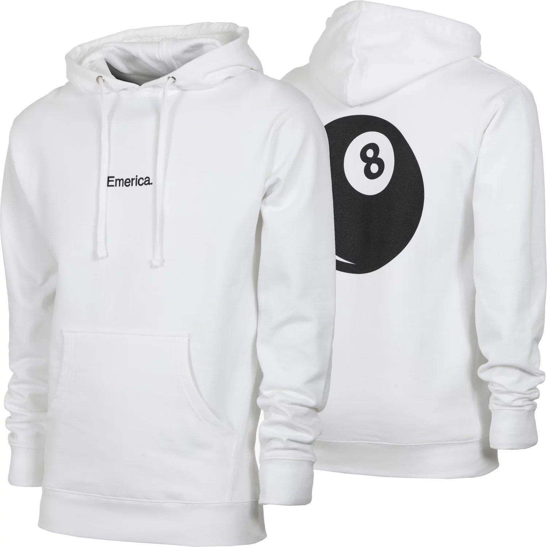 Emerica Erick Winkowski 8 ballr Hooded Fleece White