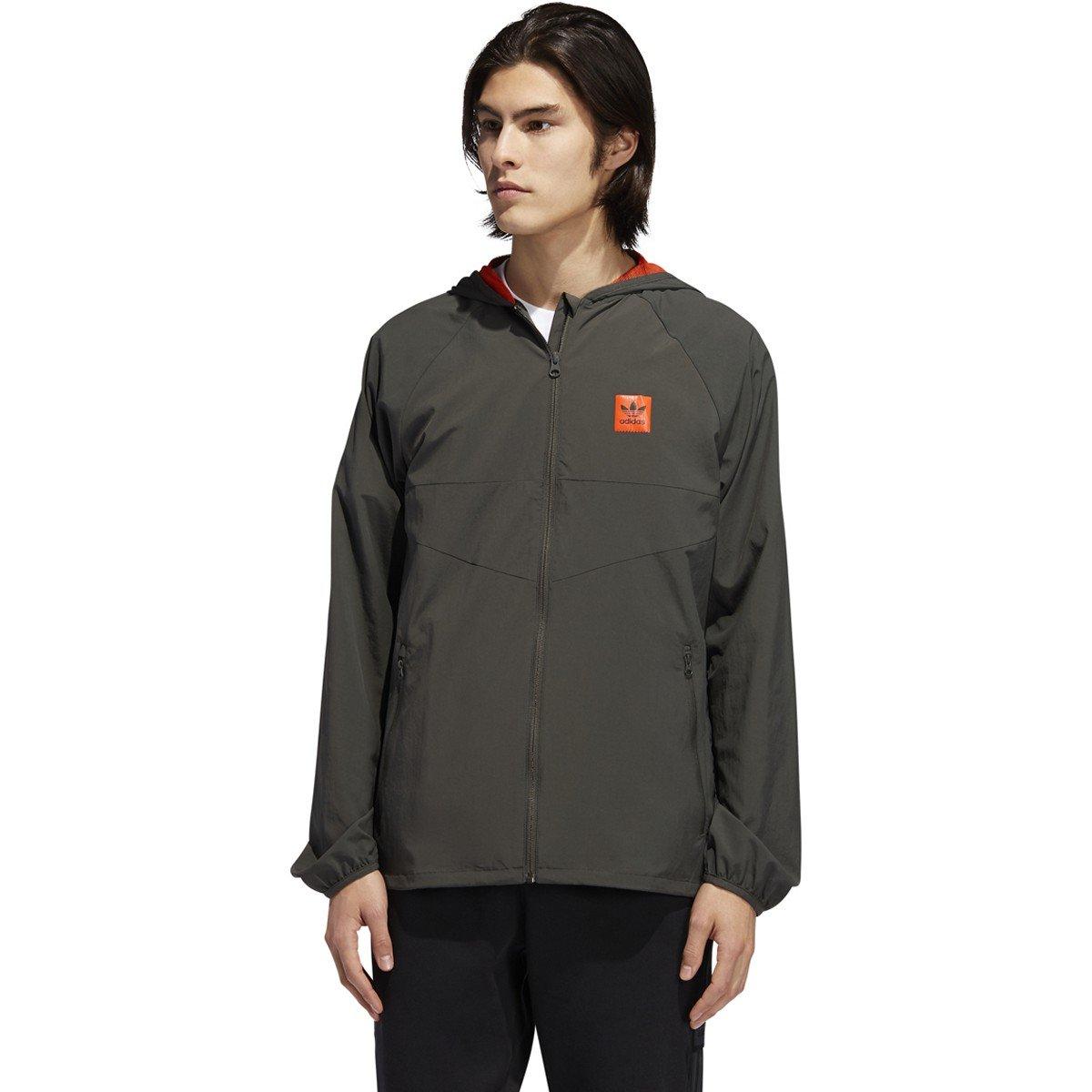 Adidas DEKUM PACKABLE WIND JACKET legend earth/active orange