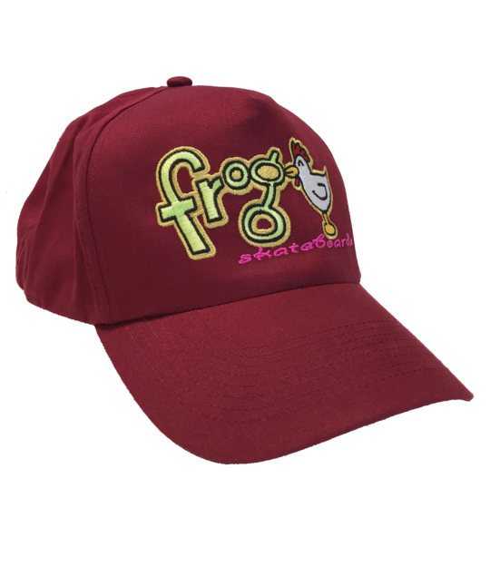 Frog Lucky Chicken hat Cranberry