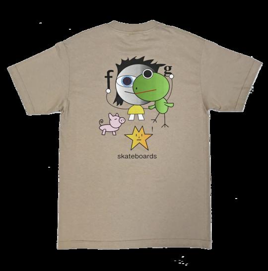 Frog Frog Kid! s/s t shirt oatmeal