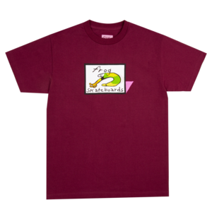 Frog Classic Logo s/s t shirt maroon