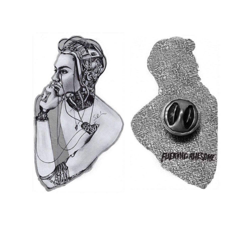 Fucking Awesome Sean Pablo Cyborg Pin