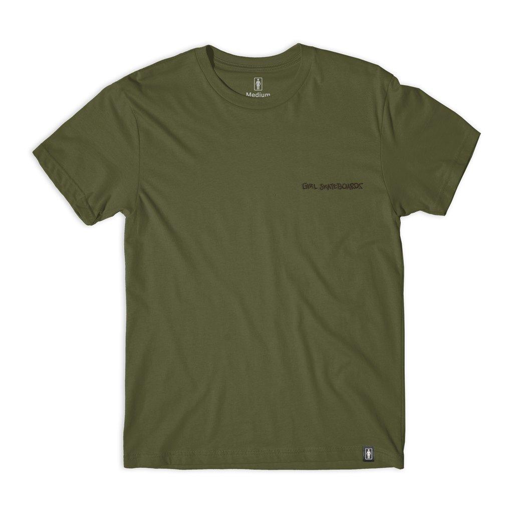 Girl Simon Bannerot G snake s/s t-shirt Military