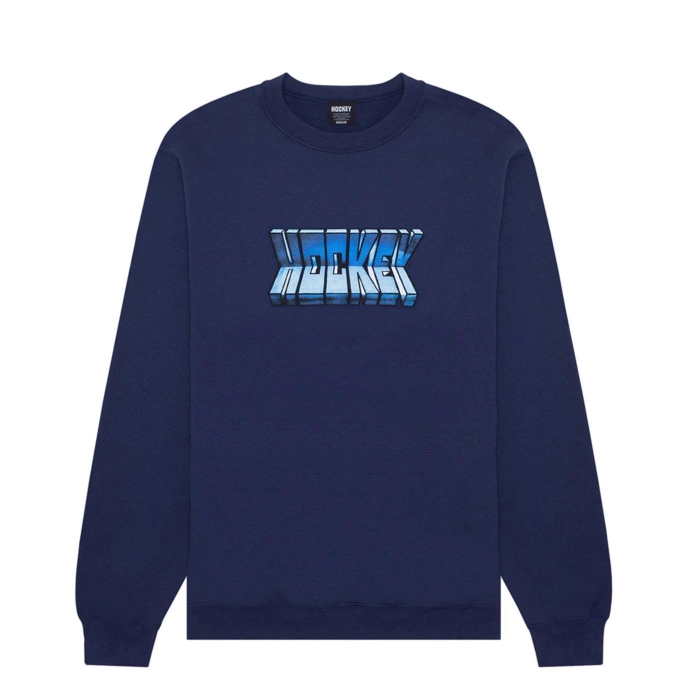 Hockey Fold Crewneck sweatshirt navy